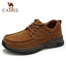 Zapatos de hombre con amortiguación CAMEL, zapatos informales de cuero genuino mate, cómodos, resistentes al desgaste, antideslizantes, zapatos de cuero para actividades al aire libre para hombres