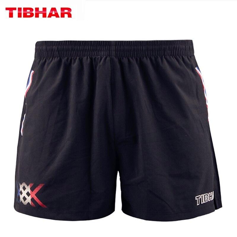 TIBHAR Table Tennis Shorts France National Team Comfortable High Elasticity Ping Pong Clothes Sportswear Shorts