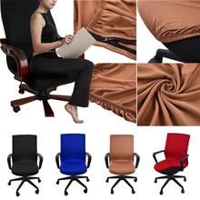 Elasticity Office Computer Chair Cover Arm Chair Cover Spandex Rotating Lift Dust Internet Cafe Chair Seat Cover Size S/M/L hangman s chair fra