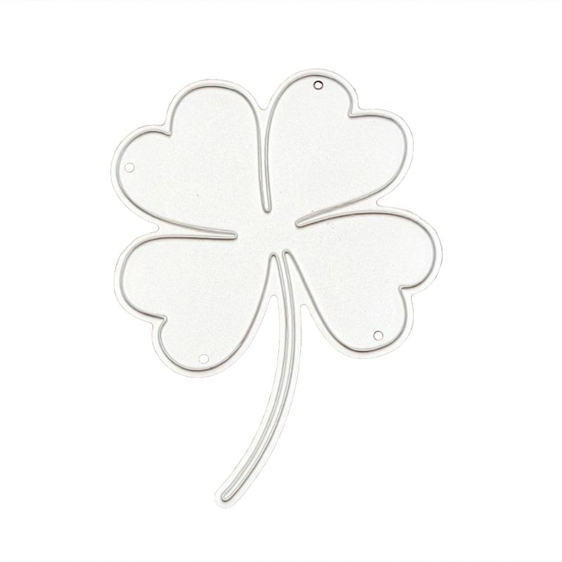 Carbon Steel Lucky Clover Cutting Die DIY Embossing Mold Paper Art Card Decor