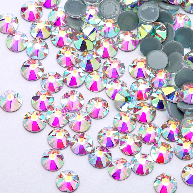 Blinginbox Best Quality Crystal AB Hot Fix Rhinestone FlatBack 16 Cut Facets Hotfix Rhinestones Wedding Decoration Y3546