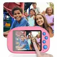 """Новый 8GB дети HD Wifi цифровая камера 2,8 """"lcd Мини двойной объектив Doughnut камера водонепроницаемый милый детский день рождения/Рождественский под..."""