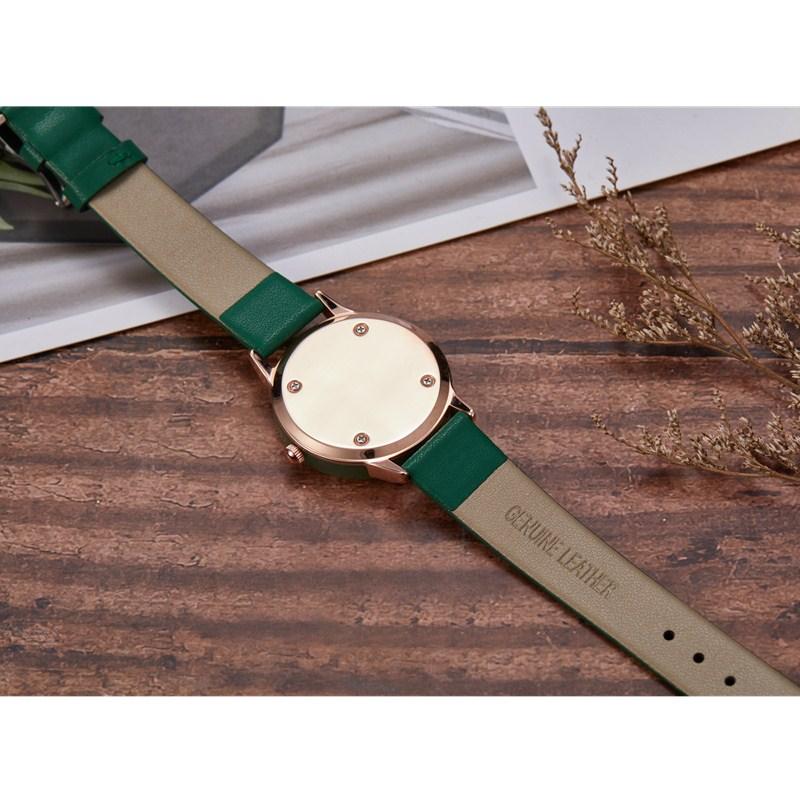 Gorben Genuine Leather Quartz Watch Roman Numerals Women Clock Fashion Casual Female Wristwatch Luxury Wrist Watches - 4
