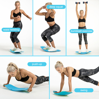 Fitness Balance Board Waist Twisting Boards Yoga Gym Prancha Abdominal Leg BalanceTraining Exercise Workout Equipment 3