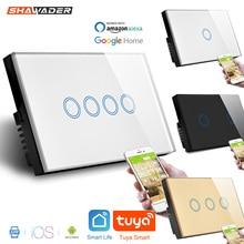 Wifi Smart Touch Licht Schalter Interruptor Glas Wand Panel Strom Überwachung Remote Voice Control arbeit mit Alexa Google Hause