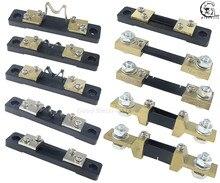 FL 2 Medidor de corriente de derivación externo, resistencia de derivación para amperímetro digital, amp, voltímetro, medidor de vatímetro, 100A, 50A, 30A, 20A, 10A, 5A/75mV