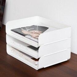 1Pc Desktop Bestand Lade Organizer A4 Document Papier Organisator Rack Plastic Boek Plank Opslag Houder Kantoorbenodigdheden Opbergdoos