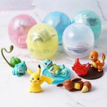 Takara Tomy 5pcs/set Pokemon Charmander Squirtle Bulbasaur Action Figure Ex Elf Ball Children Toy Gifts Pikachu
