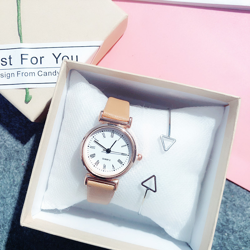 Fashion Cute Women Watches Leather Strap Small Dial Rose Gold Ladies Wrist Watch Female Clock Gifts For Girls Relogio Feminino