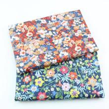 160cm * 50cm tecido de algodão pastoral pequeno tecido floral sarja de algodão impresso pano artesanal diy roupa de cama casa pijamas tecido