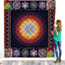 Mandala Printed Bohemian Home Sofa Cover Quilt Queen King For Bed Soft Travel Hotel Warm Blanket Cotton Quilt Dropshipping(China)