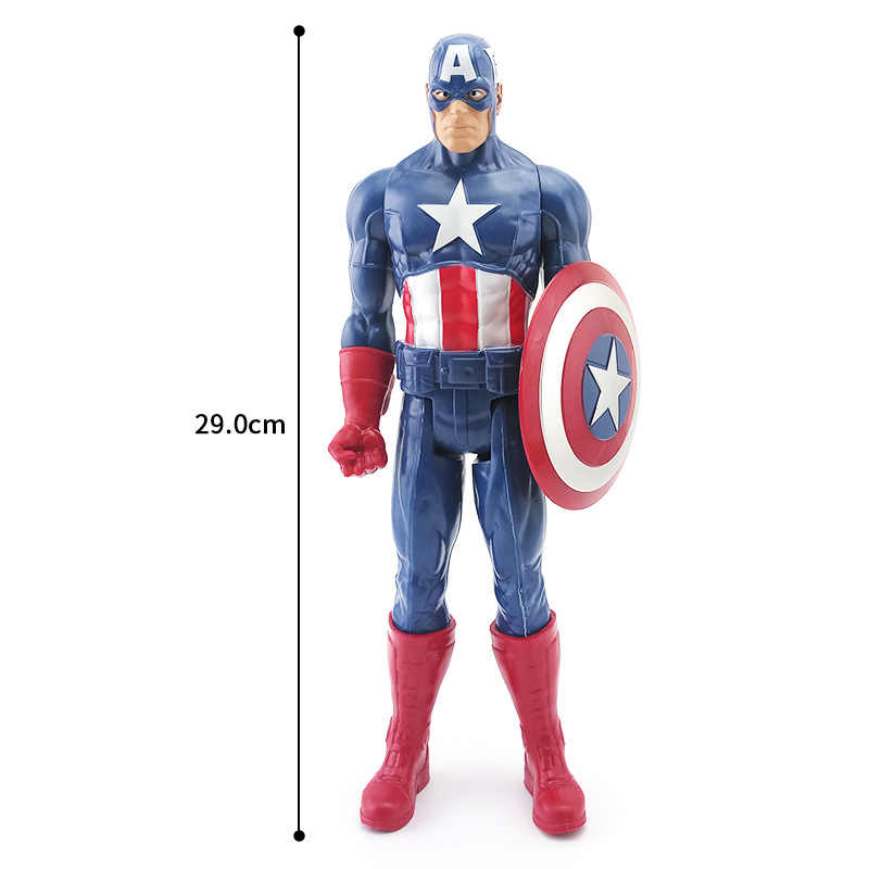 מארוול סופר גיבורי הנוקמים תאנסו שחור פנתר קפטן אמריקה Thor ברזל איש antman Hulkbuster האלק פעולה איור בובות 30cm