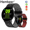 Inteligentny zegarek mężczyźni ciśnienie krwi inteligentny zegar okrągły wodoodporny Smartwatch kobiety Sport opaska do monitorowania stanu zdrowia zegarek inteligentny zegarek dla android ios