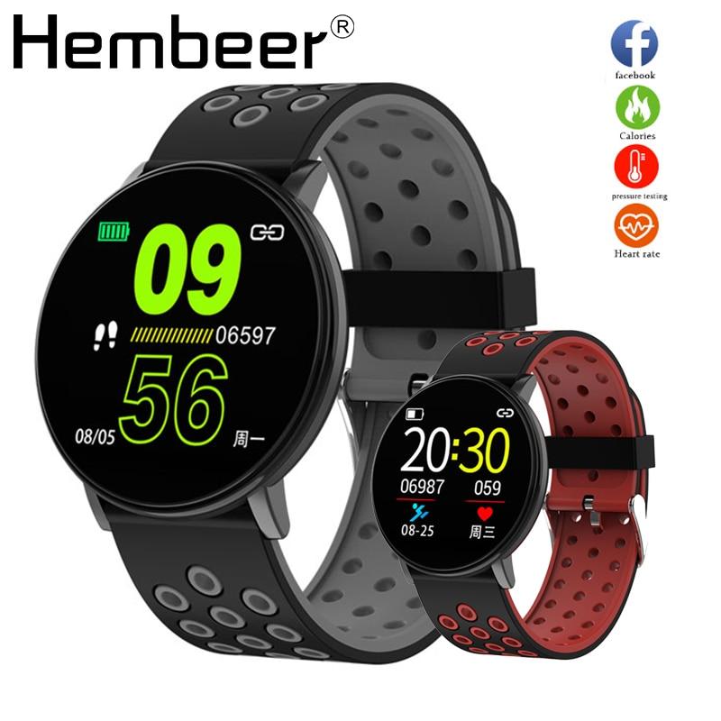 Smart Watch Men Blood Pressure Smart Clock Round Waterproof Smartwatch Women Sport Health Bracelet Watch Smart For Android IOS