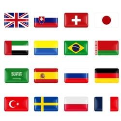 10 pçs finlândia república checa espanha pequeno decorativo emblema cubo tampas volante para bmw audi skoda mazda carro emblema adesivo