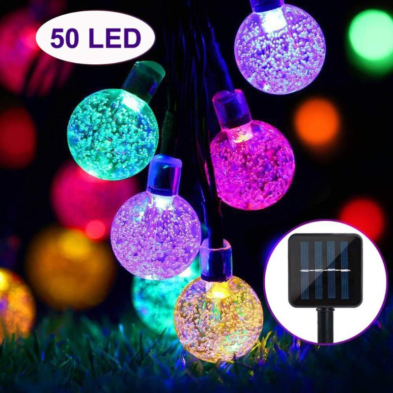 30/50LED Solar Power Coloreful Lights String Ball Lamp Indoor And Outdoor Decoration Lamp String Christmas Decoration Lamp