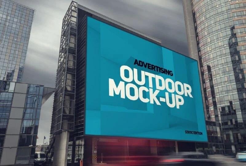国外高端广告牌样机贴图,快来收藏吧!