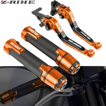 Motorcycle Accessories For KTM 1090 Adventure 2013 2014 2015 2016 Extendable Brake Clutch Levers and Handlebar Hand Grips ends