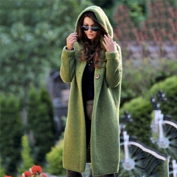 2020 Spring Autumn Winter Women Solid Long Sweater Loose Knitting Cardigan Hooded Coat Office Lady Plus Size 5XL