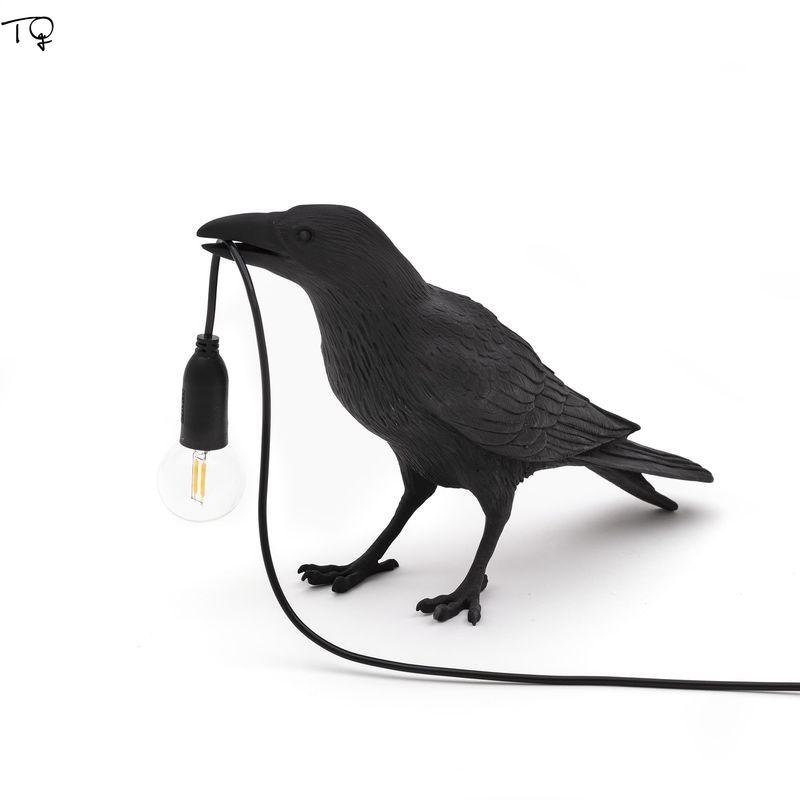 Lámpara de pájaro Seletti italiana mesa de luz Led decoración del hogar pájaro lámpara de escritorio Seletti pájaro muebles de animales sala de estar dormitorio cabecera
