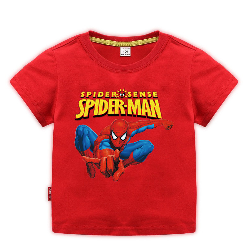 Disney Baby Spiderman T-shirt Childrens Boys Top Girls Cotton Clothing T-shirt Kids Cartoon Short Sleeve Tee Clothes Summer 2020 4