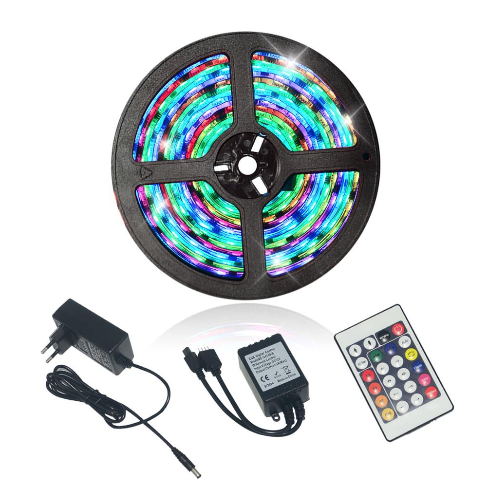 LED Strip Lights Dream Color SMD5050RGB with IC DC12V 5M 300leds Magical color Flexile strip Waterproof Programmable Tape Kit