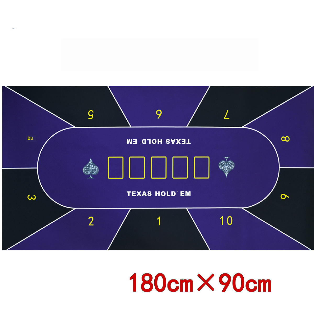 1.8m Deluxe Suede Texas Hold'em Poker Tablecloth Pattern Casino Poker Set Board Game Mat Casino Layout Poker Accessory