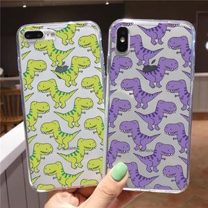Cute Dinosaur Case For Huawei Y5p Y8p Y6p Y7p Honor 9A 9S 9C X10 10 20 9 Lite 30 S Pro 10i 8A 8X 9X Play 4T Nova 7 Pro SE Fundas