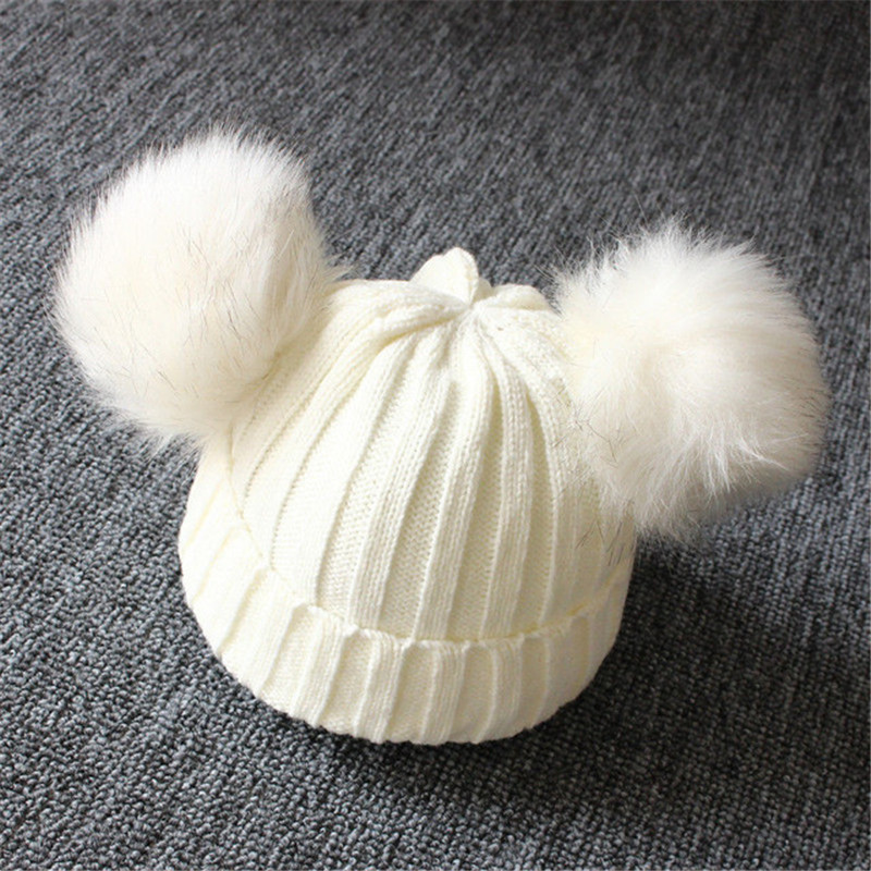 Winter-Warm-Baby-Hat-Double-Furry-Ball-Pompom-Children-s-Cap-Solid-Knit-Cap-For-Girls.jpg_640x640