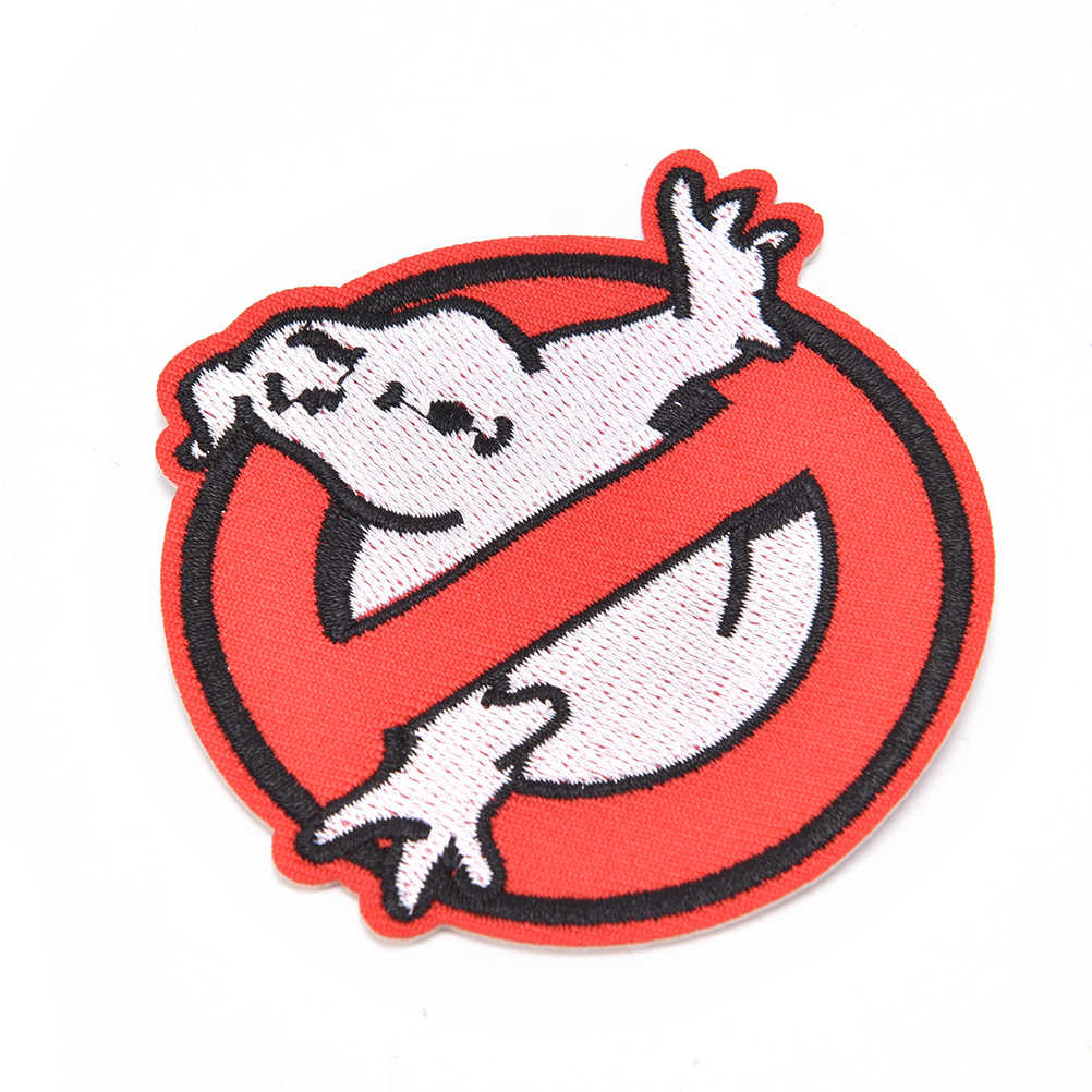 ใหม่ Ghost Busters ไม่มี Ghost โลโก้แพทช์ปักเหล็กบน Applique ผ้าป้ายปักสัญลักษณ์ Badge