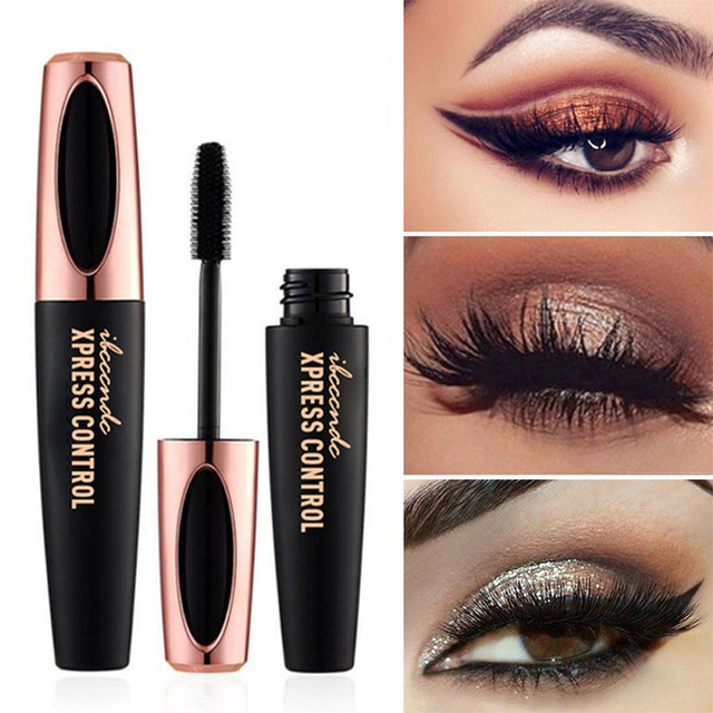 4D Silk Fiber Lashes Mascara Waterproof Mascara for Eyelash Extension Black Thick Lengthening Eye Lashes Makeup Korean Cosmetics