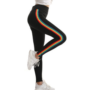 Image 5 - Mallas góticas de entrenamiento para Mujer, mallas góticas con adornos de arcoíris, deportivas de cintura alta, pedido Original americano