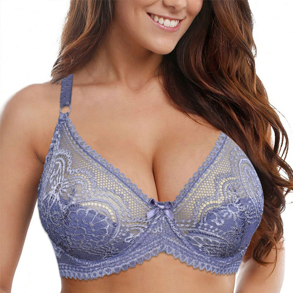 Plus Size Hot Womens Lingerie Lace Bras Underwired Supports Brassiere Sexy Underwear Tops A B C D Cup 1