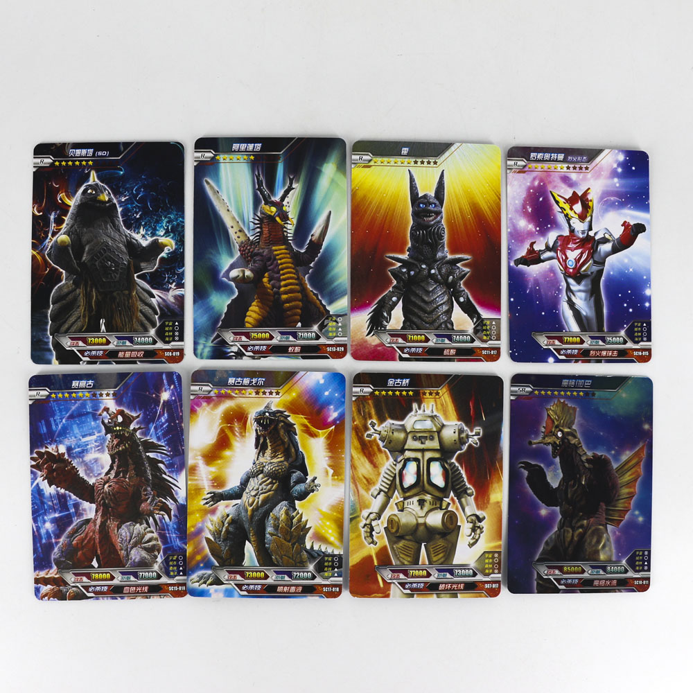 Hot Altman Ultraman Shining Card High Quality 8 144 288 Flash Cards Kaiju Collection Board Game Toys For Kids