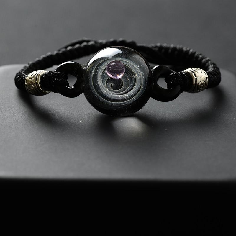 BOEYCJR, горячая Распродажа, Вселенная, планеты, стеклянные браслеты из бисера и браслеты, модные ювелирные изделия, галактика, солнечная система, браслет для женщин, Рождество - Окраска металла: 4