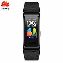 מקורי Huawei להקת 4 פרו GPS חכם להקת מתכת מסגרת צבע מסך מגע דם חמצן לשחות קצב לב חיישן שינה צמיד