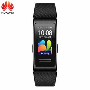 Image 1 - Original Huawei Band 4 Pro GPS Smart Band Metal Frame Color Touchscreen Blood oxygen Swim Heart Rate Sensor Sleep Bracelet
