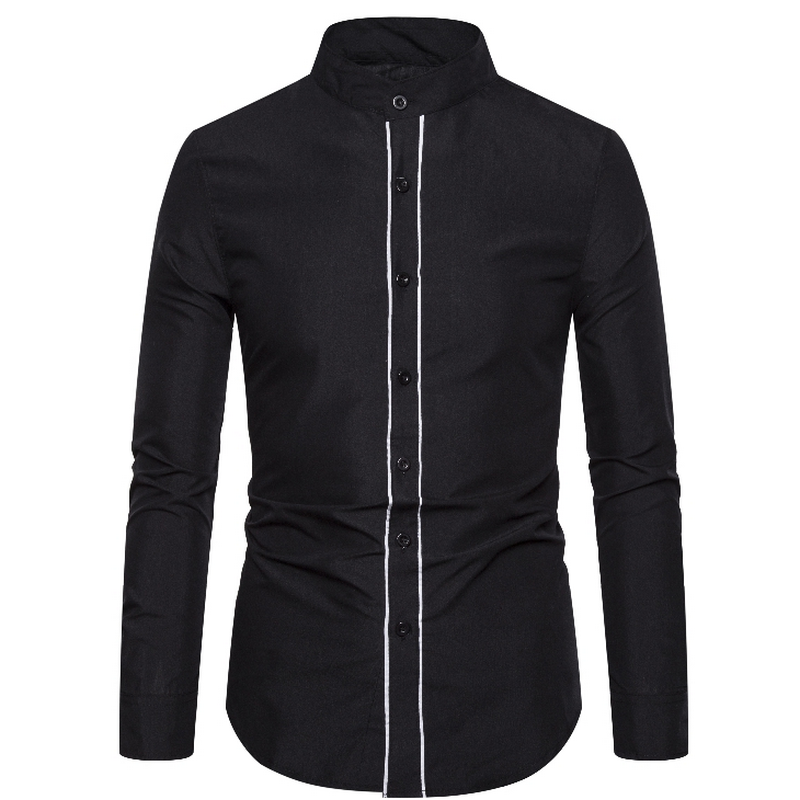Men's Shirt Long Sleeve 2020 New Arrival Fashion Men Argyle Luxury Business Style Slim Fit Long Sleeve Casual Dress Shirt