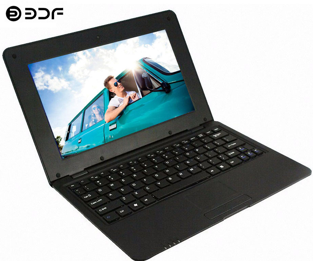 BDF 10.1 Inch Android Notebook Laptop Laptop Android 6.0 Allwinner A33 Quad Core 1.5GHZ WiFi Bluetooth Mini Netbook Laptop 10.1