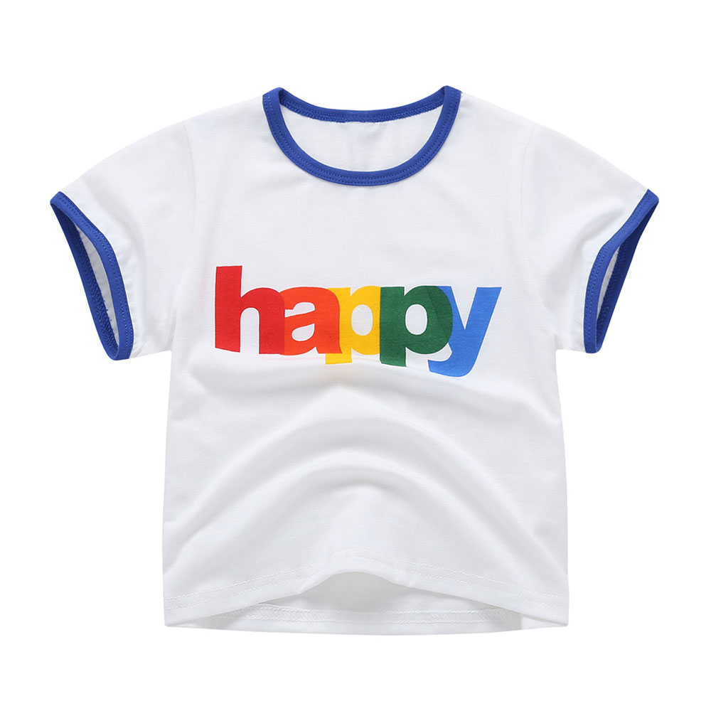Tees Kids Children T-Shirt Carton-Tops 1-5years Baby's Summer New Cute Fashion Round-Neck