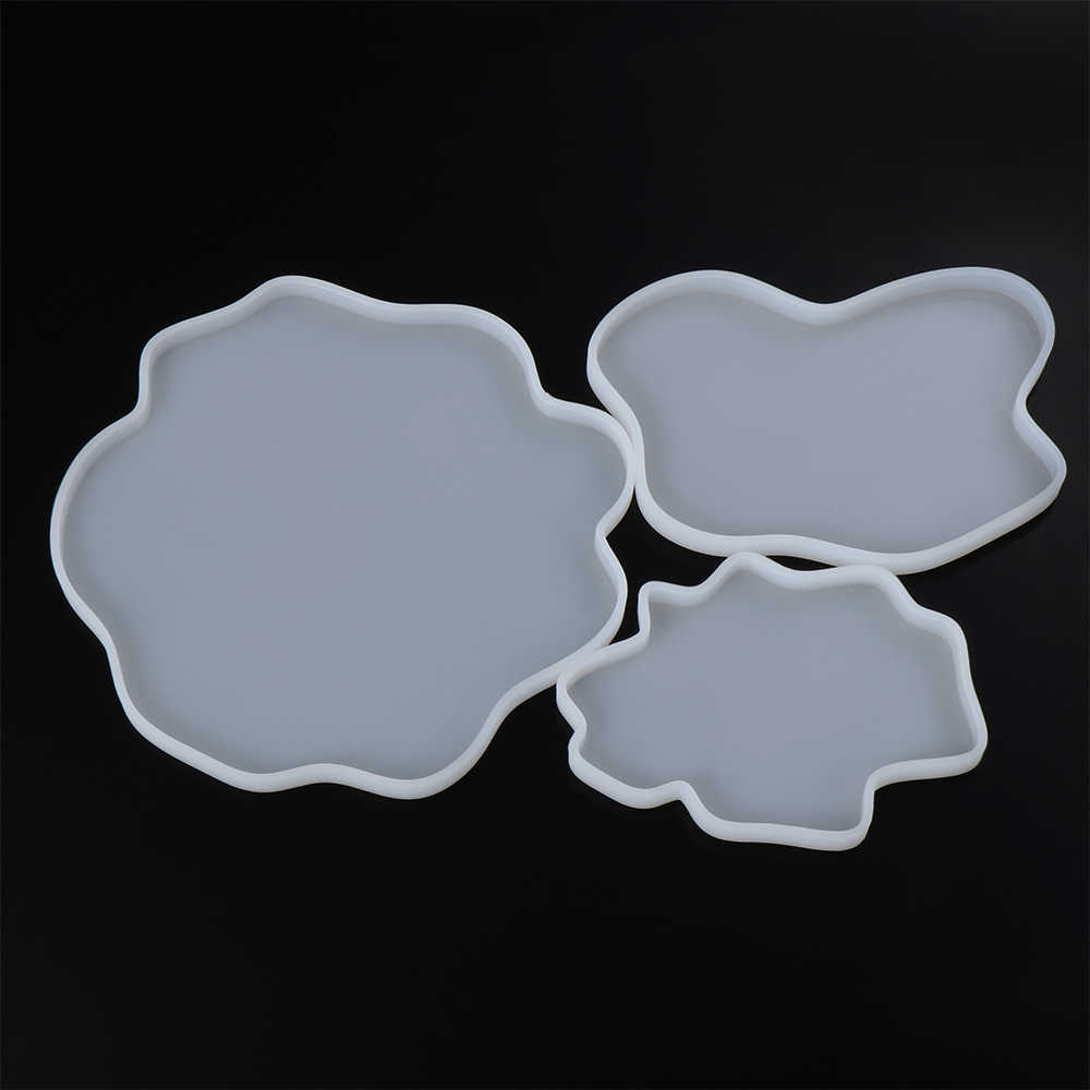 Posavasos cuadrado transparente de silicona molde grande fluido artst molde de resina para hacer manualidades de resina epoxi 13x13cm