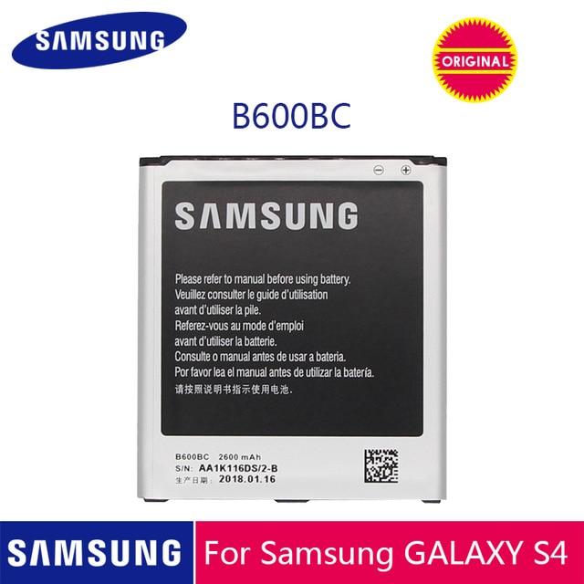 SAMSUNG batería Original B600BC B600BE para Samsung GALAXY S4 2600mAh I9500 I9502 i9295 GT-I9505 I9506 I9508 I959 i337 i545 i959