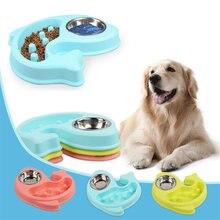 Антидроссельная миска для собак медленно питающаяся двойные