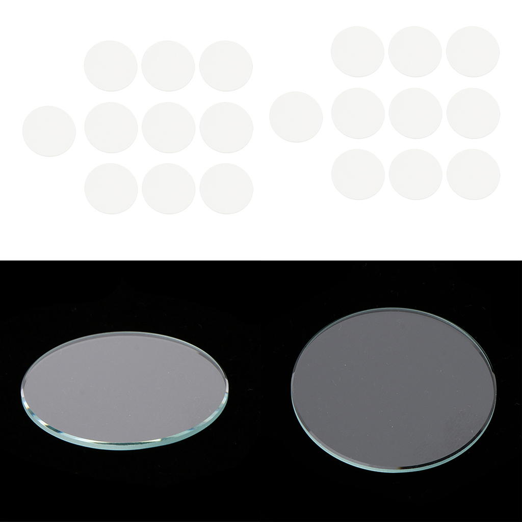 20 Pieces Flat Round Mineral Glass Watch Crystals Face Watch Repair Parts Accessory