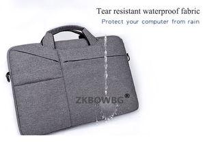 Image 2 - כתף שקיות מחשב נייד שרוול תיק עבור Huawei MateBook X פרו E D HZ W09 W19 13 13.9 12 14 15 15.6 Tablet פאוץ Case תיק כיסוי