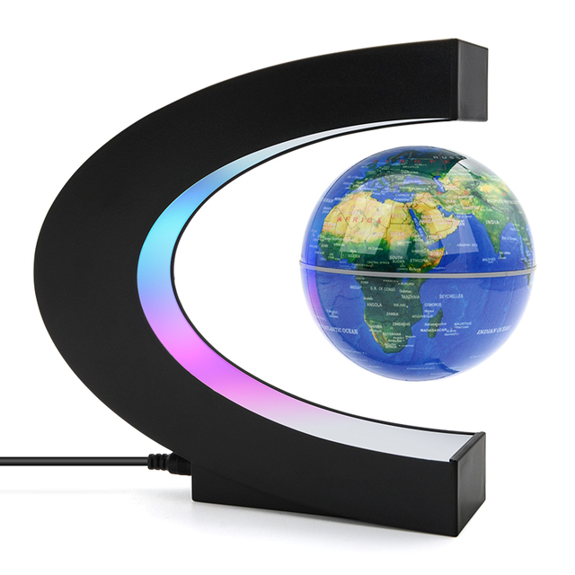 Magnetic Levitation Globe Night Light Floating World Map Ball Lamp Cool Lighting Office Home Decoration Terrestrial