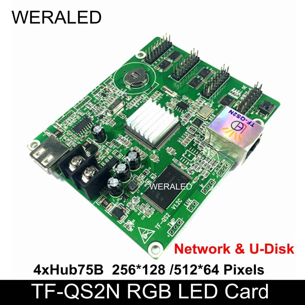 LongGreat TF-QS1 TF-QS2 TF-QS2N TF-QS3 TF-QS3N a todo Color pantalla LED controlador apoyo P4/P5/P6/P7.62/P8/P10 módulo LED