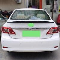 Toyota corolla spoiler 2006-2013 년 실제 광택 탄소 섬유 후면 윙 스포츠 psm 스타일 액세서리 바디 키트