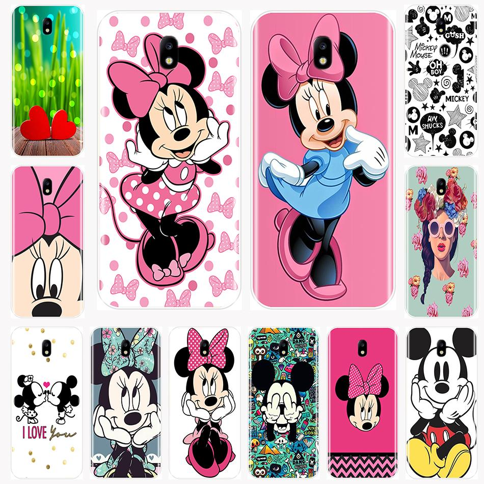 Phone Case Silicone For Samsung Galaxy J2 J3 J5 J7 2016 2017 Prime Mickey Minnie Back Cover For Samsung J4 J6 J8 Plus 2018 image