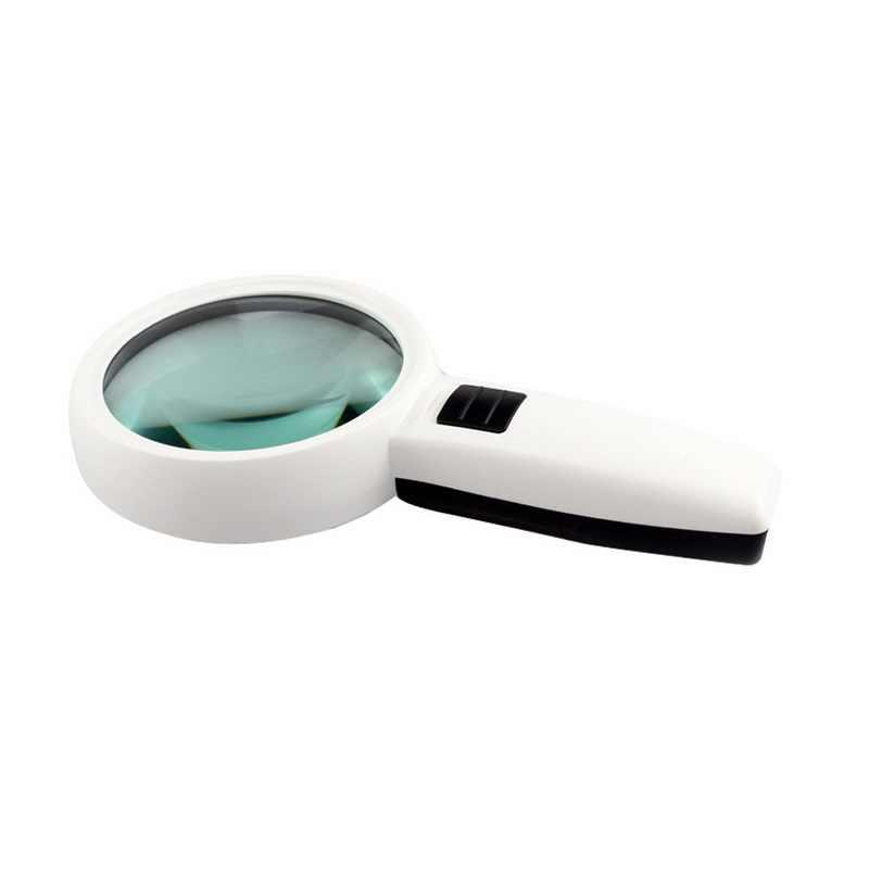 Urijk 30X3 ไฟ LED สูงขยายแว่นขยายเลนส์คู่อัพเกรดแว่นขยายแว่นขยาย